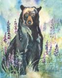 GuttormssonR-2017-Bear-Lupin-18x21-framed-385