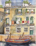 GuttormssonR-2019-At-Home-in-Venice-watercolor-ink-16x20-framed-NFS.._-002