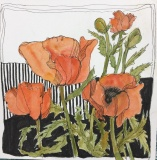 GuttormssonR-2021-Poppies-on-Parade-watercolor-ink-8x8-65-002