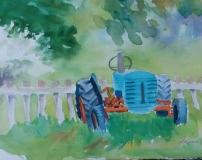 Labeau-d-2020-Blue-Tractor-waiting-11x14