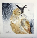 Barn-Owl-in-Snow-6-x-6-sold-small