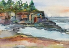 RauschenfelsS-202002-Lake-Superior-Shoreline-16x20-matted-and-framed-Sold
